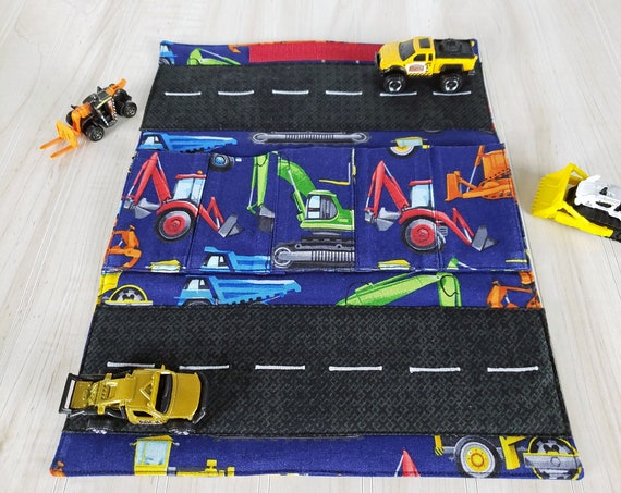 Toy Carrier with Road - Construction Vehicles Car Wallet