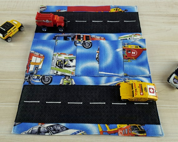 Toy Carrier with Road - Rescue Vehicles Car Wallet