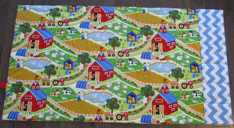 Farm Play Mat Music Playmat Farmland Barnyard Scene Animal 3000x1648