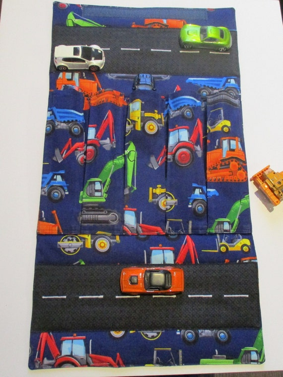 Large Toy Car Carrier with Road - Construction