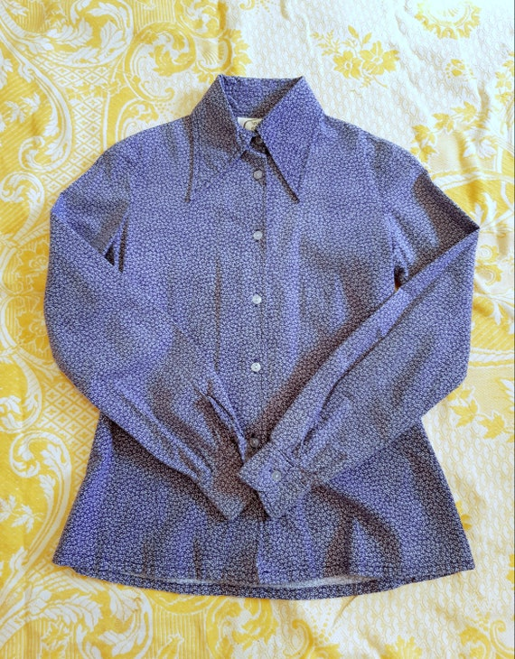 Vintage Laura Ashley early 1970s shirt , rare , sp