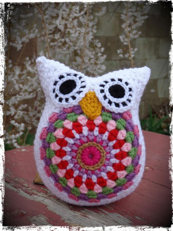 Crochet This Adorable Owl Using Crocodile Stitch Worked In The ... | 760x570