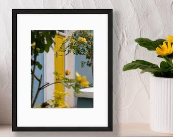 Portobello Road Print - London Photography - Yellow Door Wall Art