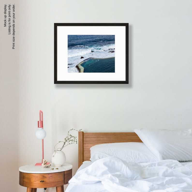 Spain Tenerife Print Sea Wall Art Pool Canary Islands Atlantic Ocean Photography