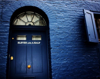 Fournier Street London Print - Shoreditch Photography - Blue Door - Eleven and a Half - Blue House