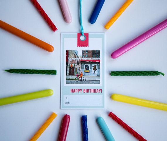 Birthday Gift Tags Set Of 5 Original Photography NYC
