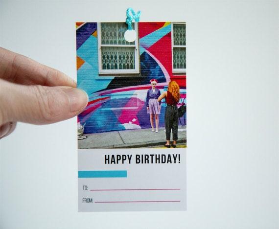 Birthday Gift Tags Set Of 5 Original Photography London