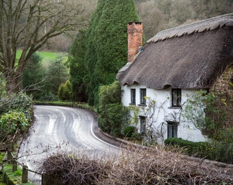 Devon Photography - English Countryside - Thatched Roof Cottage in Bickleigh - Photography Print