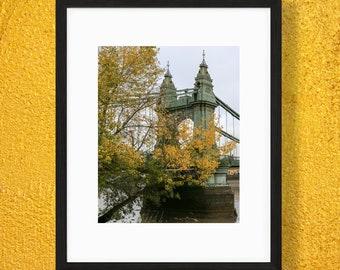 Hammersmith Bridge Print - London Photography - Autumn Wall Art