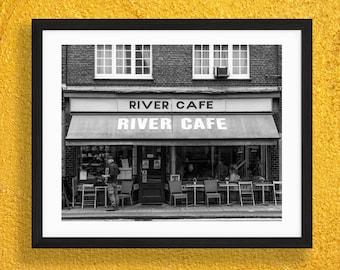 River Cafe, Putney Print - Black and White Photography - Putney Bridge, London