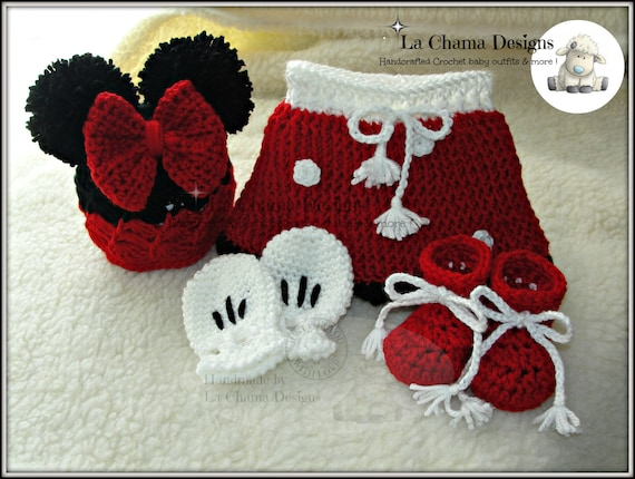 Minnie Mouse Crochet Outfit Crochet Outfit Mickey Mouse Etsy