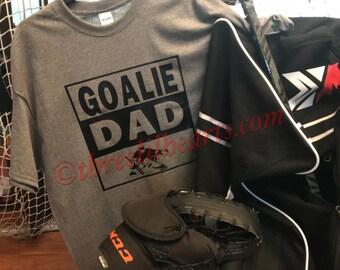 Goalie Hockey Dad Zip up Hoodie, Pull Over Hoodie or T Shirt Personalized