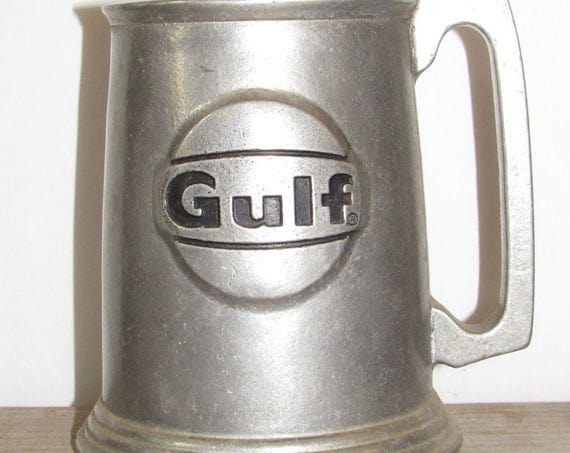 Vintage Pewter Mug, Gulf Oil Collectible Mug, Philadelphia Mug, Operation Sparkle 1981, Memorabilia, Philly Mug
