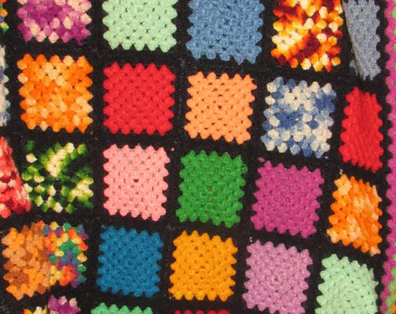 Vintage Knit Blanket, Wool Blend Throw, Multicolored Heirloom Blanket, Cozy Cabin, Lap Blanket, Stay Warm Afghan, Reading Nook Blanket