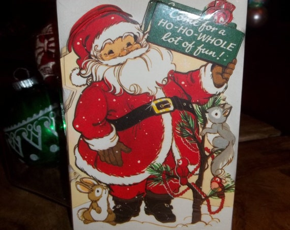 Vintage Christmas Party Invitations, Hallmark Cards, Santa Claus Invitation Cards, New in Package, New Old Stock, Retro Holiday Party
