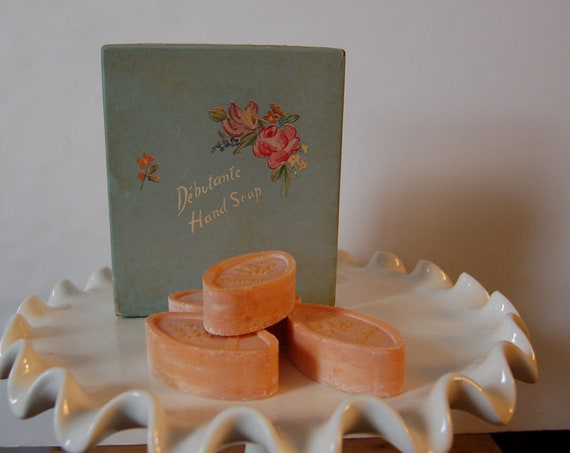 Vintage Debutante Hand Soap ~ Cottage Chic Box ~ Pink Hand Soap ~ Vintage Vanity ~ Vintage Bathroom Decor ~ Think Spring
