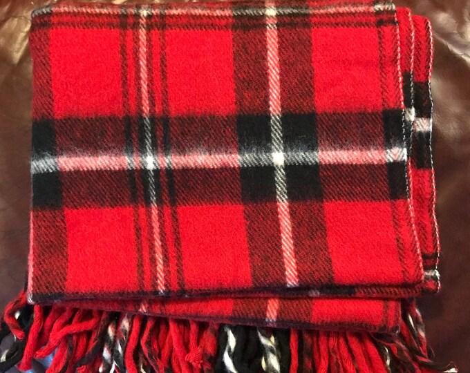 Featured listing image: Vintage Plaid Blanket   Faribo Blanket   Acrylic Picnic Blanket   Made USA   Tartan Plaid   Stadium Blanket   Cozy Cabin   Football Tailgate
