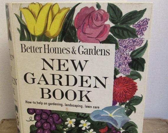 Vintage Gardening Book, Better Homes & Gardens New Garden Book, 1960s Book, Garden Reference, Hostess Gift, Outdoor Book, Vintage Gift