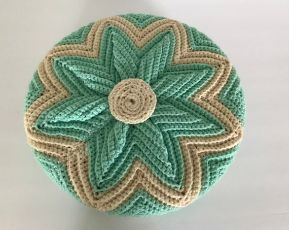 Vintage Knit Pillow | Grandmillennial Pillow | Teal and White Knit Pillow | Retro Style| Cozy Cabin | Housewarming Gift
