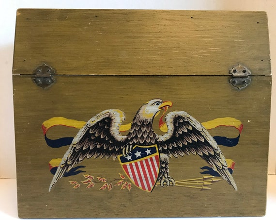 Wooden Eagle Lap Desk | Americana | Work From Home | Patriotic Lap Desk | Back to School