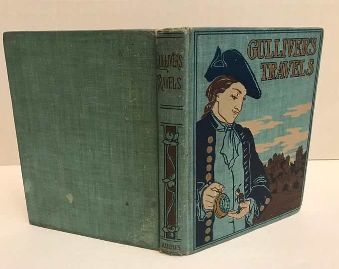 Featured listing image: Gulliver's Travels Hardcover   1899 Printing   Antiquarian Book   Collectible Book   Travel and Adventure   Old Book   Vintage Book