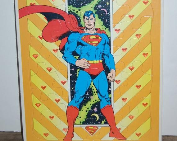 Superman Jigsaw Puzzle | Frame Tray Puzzle | Vintage Superhero | Clark Kent | Vintage Puzzle | DC Comics | Superhero Puzzle | Fun at Home