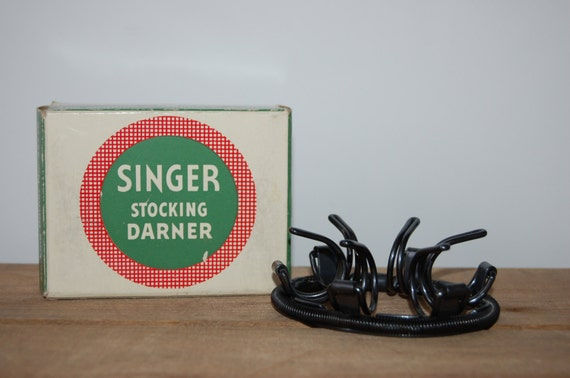 Singer Stocking Darner no 35776, Vintage Singer Attachment, Sewing Machine Tool, For Mending Stockings and Socks