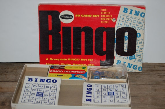 Vintage Bingo Set, Whitman Bingo Game, Vintage Game, Fun and Games