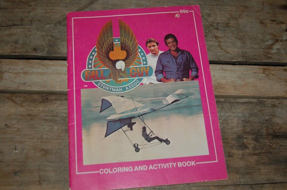 The Fall Guy Coloring Book, Retro Television Show, 1980s TV, Lee Majors, Activity Book, Vintage Fun