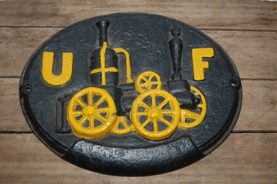 UF Insurance Sign, Vintage Fire Insurance Company Sign, United Firemen's Insurance, Wrought Iron Fire Sign, House Marker Sign