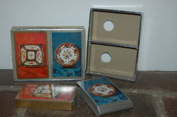 Vintage Congress Playing Cards, Double Deck Playing Cards, Royal Worcester Cards, Vintage Game, 1960's Parlor Game, Box Included