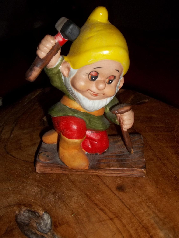 Vintage Dwarf, Vintage Elf, Ceramic Russ Berrie #334 Dwarf
