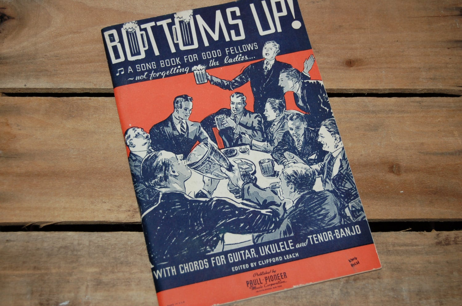 Bottoms Up Song Book Vintage Guitar Ukulele Song Book 1933