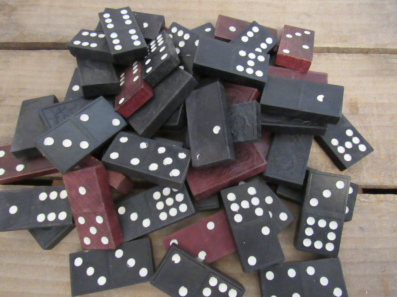 Vintage Wooden Dominoes Dragon Dominoes Vintage Game