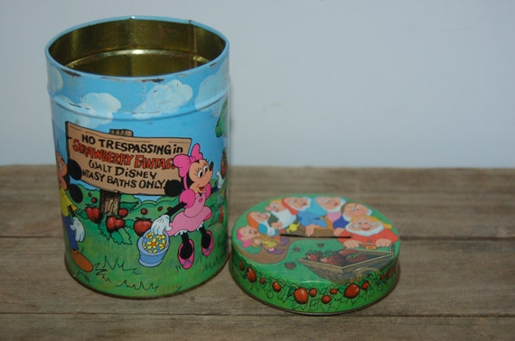 Vintage Walt Disney Bank, Disney Tin Bank, Mickey Mouse, Minnie Mouse, Donald Duck, Goofy, Collectible Disney Bank, Fantasyland Bank