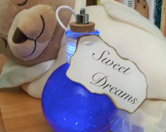 Sweet Dreams, Light Up Bottle, Blue