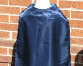 Aqua and Navy Blue Reversible Cape