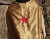 Wonder Woman Cape, reversible red and gold