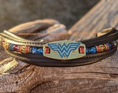 Wonder Woman Browband, Crystal and rhinestone, 16 inch u shaped