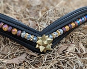 Crystal star beaded leath...