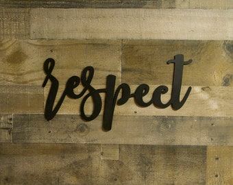 Respect Sign Etsy