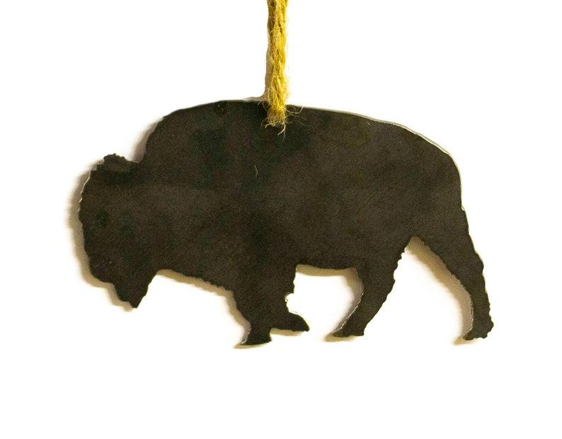 Buffalo Bison Metal Christmas Tree Ornament Holiday Decoration Etsy