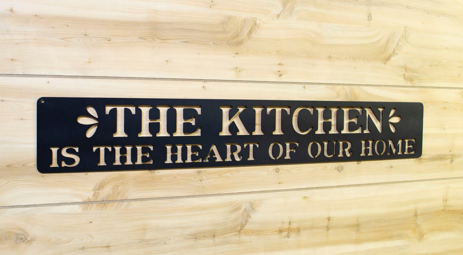 The Kitchen Is Heart Of Our Home Metal Sign Etsy