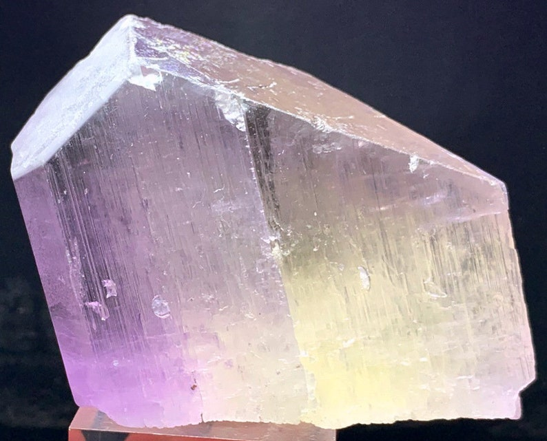 Bicolor Kunzite  Natural Pink Kunzite Crystal  254 Gram  image 0