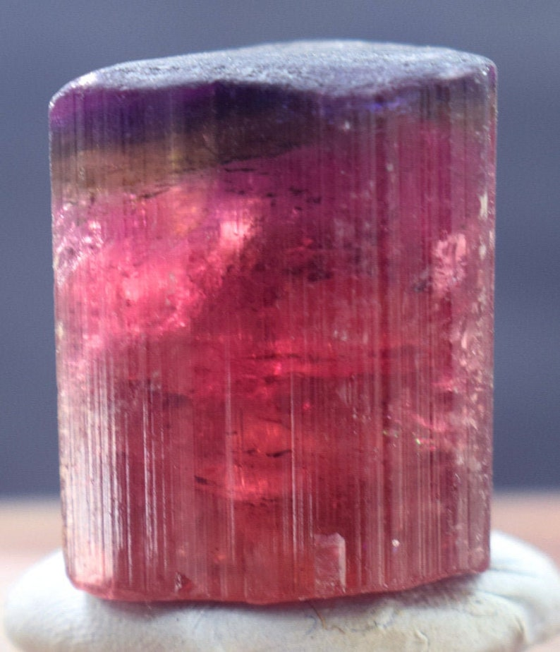Tricolor Rubelite Tourmaline Crystal  26 Gram  292318 mm image 0