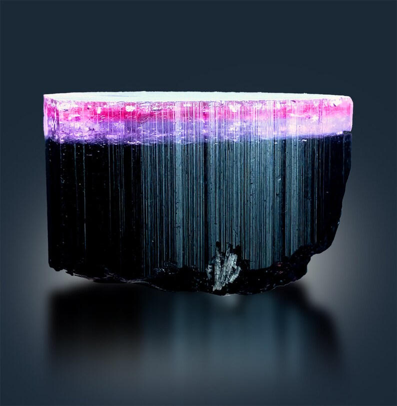 Tricolor Tourmaline Crystal from Paprok  89 g  393828 mm image 0