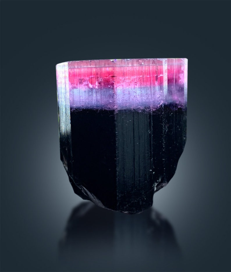 Tricolor Tourmaline Crystal from Paproke  36 g  272726 mm image 0