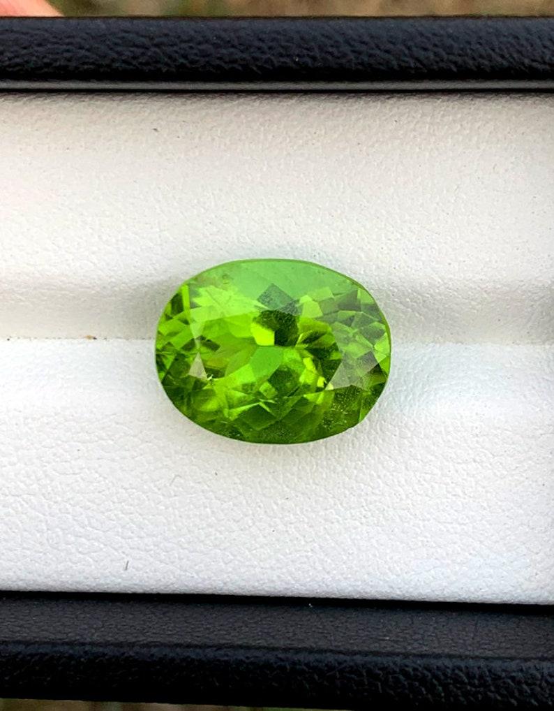 Natural Olivine Peridot Loose Gemstone From Pakistan  8.90 image 0