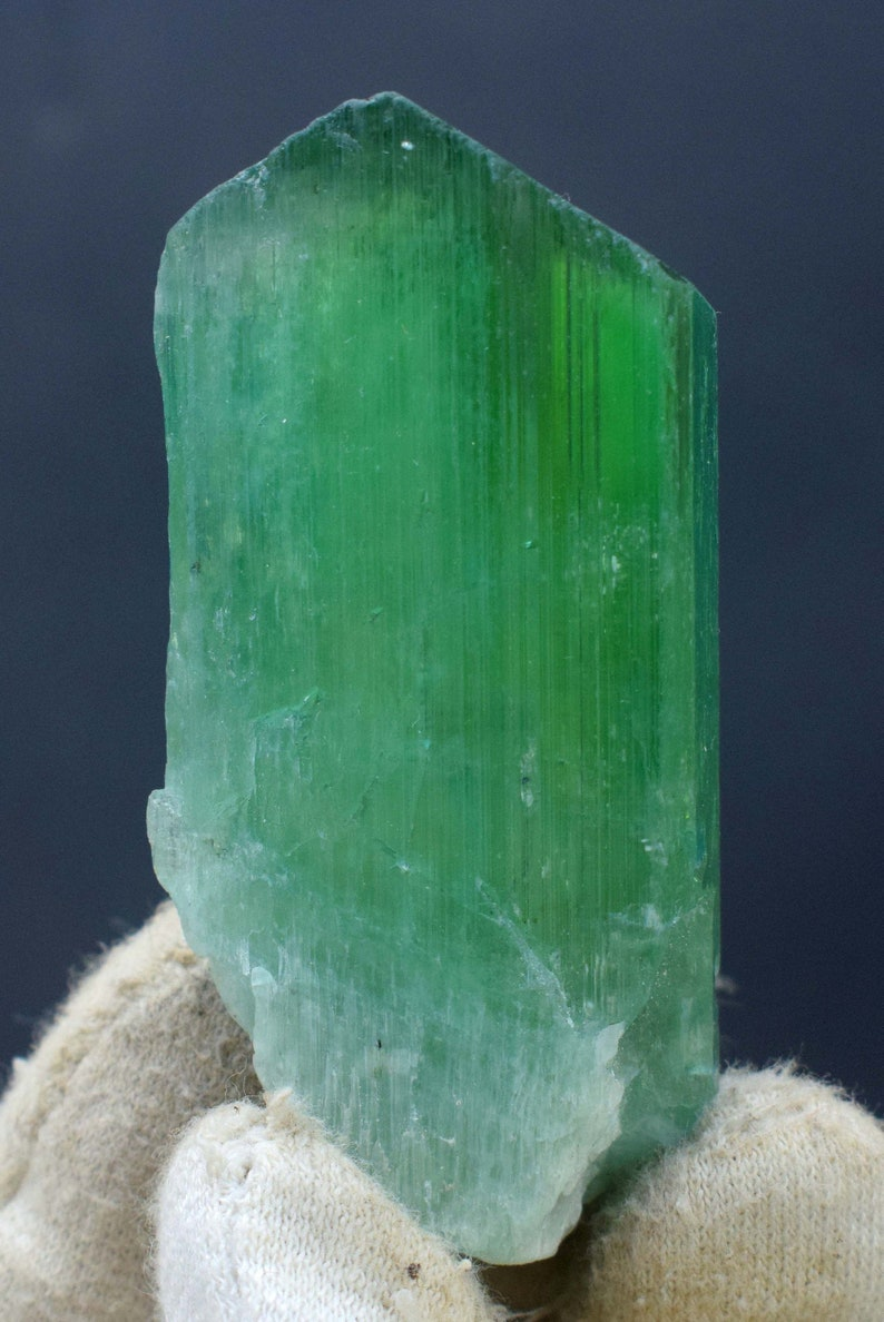 Green Kunzite Hiddenite Crystal Undamanged and Double image 0