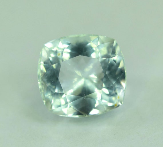 14.95 cts Flawless Untreated Aquamarine Gemstone with tourmaline inclusions from Pakistan 25*8*7 mm